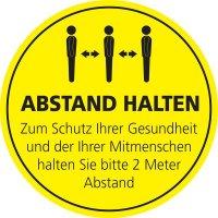ABSTAND HALTEN Zum Schutz der Gesundheit - SetonWalk Bodenmarkierung, R10 nach DIN 51130/ASR A1.5/1,2