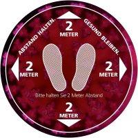 ABSTAND HALTEN - GESUND BLEIBEN, Füße, rund - SetonWalk Bodenmarkierung, R10 nach DIN 51130/ASR A1.5/1,2