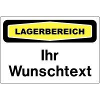 """Focus-Schilder """"Lager"""" mit Text nach Wunsch"""