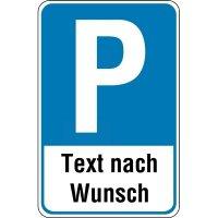 """PREMIUM Parkgebotsschilder - """"Parken"""" mit Wunschtext, retroreflektierend, massiv"""