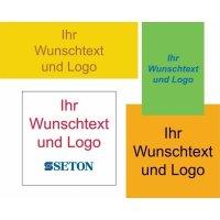 Rollen-Etiketten mit Text und Logo nach Wunsch, Papier, beliebige Größen