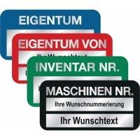 SetonGuard® Inventaretiketten mit Nummerierung und Text nach Wunsch, Aluminium