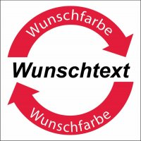 """Symbol-Wertstoff-Aufkleber / Schilder """"Text nach Wunsch"""""""