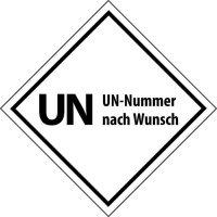 UN-Aufkleber mit Nummer nach Wunsch