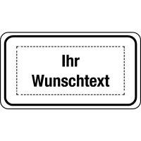 Zusatztafeln für Verkehrszeichen mit Text nach Wunsch