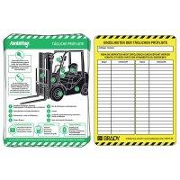 Scafftag® Forklift Einsteckschilder, Halter und Heft