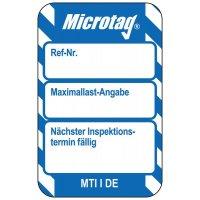Maximallast-Angabe / Nächster Inspektionstermin - Scafftag® Microtag Einsteckschilder