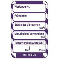 Vibration - Scafftag® Microtag Einsteckschilder