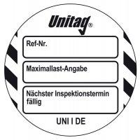 Maximallastangabe - Scafftag® Unitag Einsteckschilder
