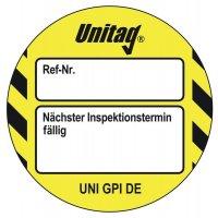 Nächster Inspektionstermin fällig - Scafftag® Unitag Einsteckschilder