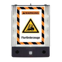 Warnung vor Flurförderzeugen - SETON Schild-Wächter, Bewegungsmelder mit Sprachausgabe & LED-Licht