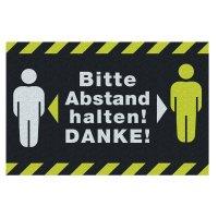 Bitte Abstand halten! DANKE! - Schmutzfangmatte Logotex