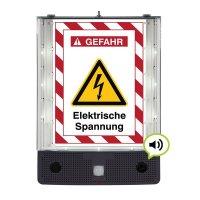 Elektrische Spannung - SETON Schild-Wächter, Bewegungsmelder mit Sprachausgabe & LED-Licht