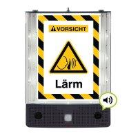 Lärm - SETON Schild-Wächter, Bewegungsmelder mit Sprachausgabe & LED-Licht