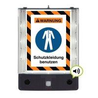 Schutzkleidung benutzen - SETON Schild-Wächter, Bewegungsmelder mit Sprachausgabe & LED-Licht