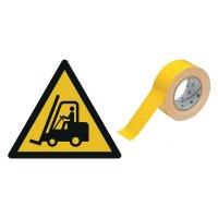 Warnung vor Flurförderfahrzeugen - BRADY Bodenmarkierungsband mit Sicherheitszeichen