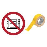 Abstellen oder Lagern verboten - BRADY Bodenmarkierungsband mit Sicherheitszeichen