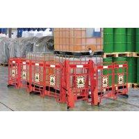 Warnung vor Flurförderzeugen - EasyProtect Absperrgitter mit Warnhinweisen