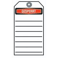 """Gesperrt – Anhängeetiketten """"Focus"""""""