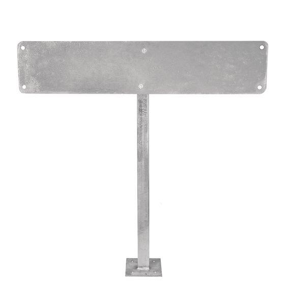Stahlständer mit Befestigungsplatte - Rohrpfosten und Schilder-Befestigungen
