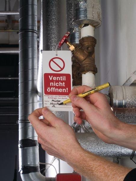 Nicht schalten! Reparaturarbeiten! - Lockout-Anhänger - Wartungsanhänger und Lockout-Etiketten