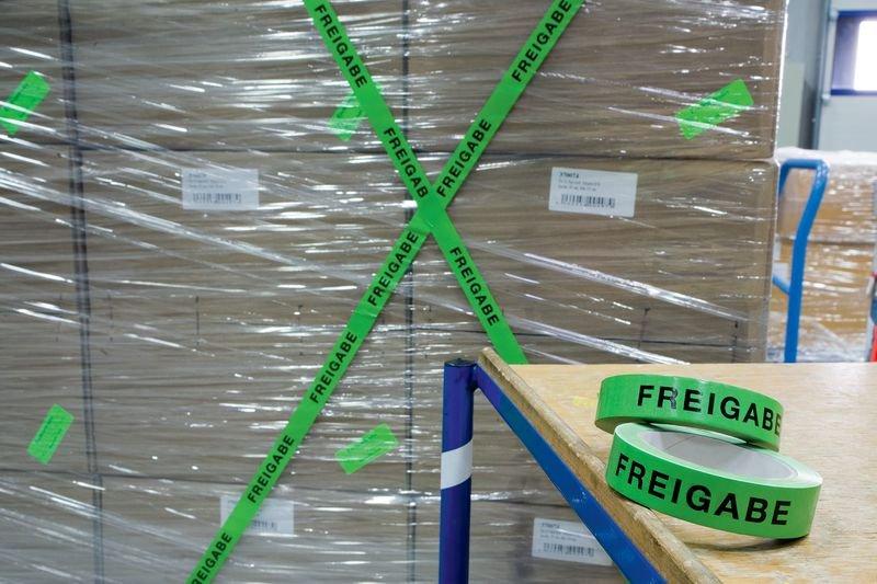 Freigabe - Absperrbänder zur Qualitätssicherung