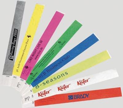 Tyvek® Eintrittsbänder, bedruckt nach Wunsch, reißfest