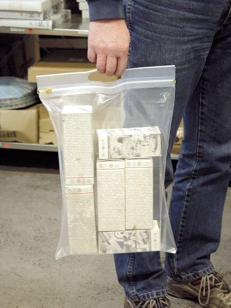 Gleitverschlusstaschen mit Griffleiste, transparent