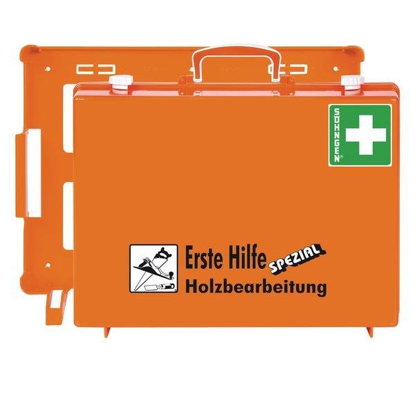 SÖHNGEN Erste-Hilfe-Koffer Spezial und Nachfüllpackungen für Holzbearbeitung, DIN 13157