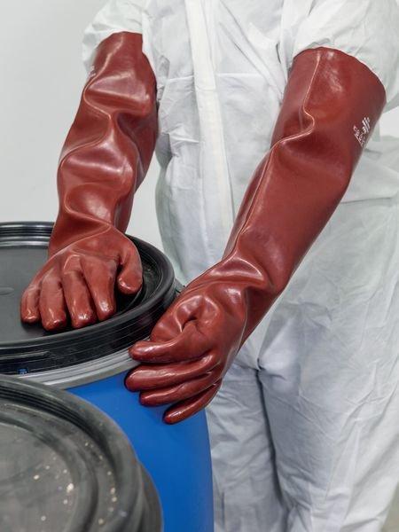 Polyco® PREMIUM Vinyl-Chemie-Schutzhandschuhe, extralang