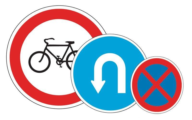 Rohrrahmen für dreieckige Verkehrszeichen, Österreich - Verkehrszeichen: Gefahrensignale SSV Schweiz