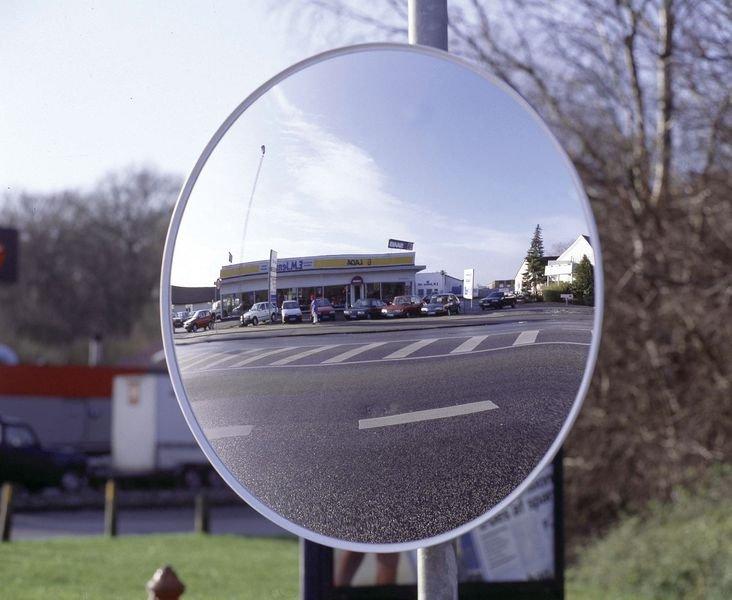 Außenspiegel aus Acrylglas, rund