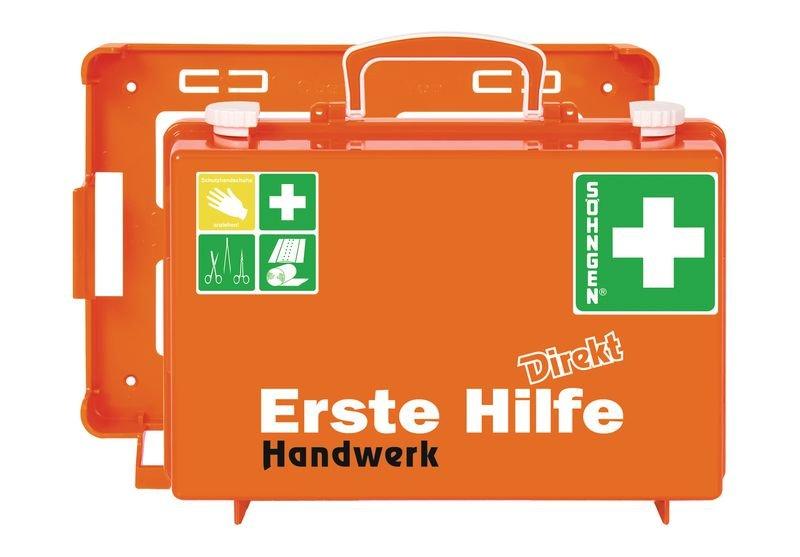 SÖHNGEN Erste-Hilfe-Koffer Direkt - für Handwerk mit Text nach Wunsch, DIN 13157