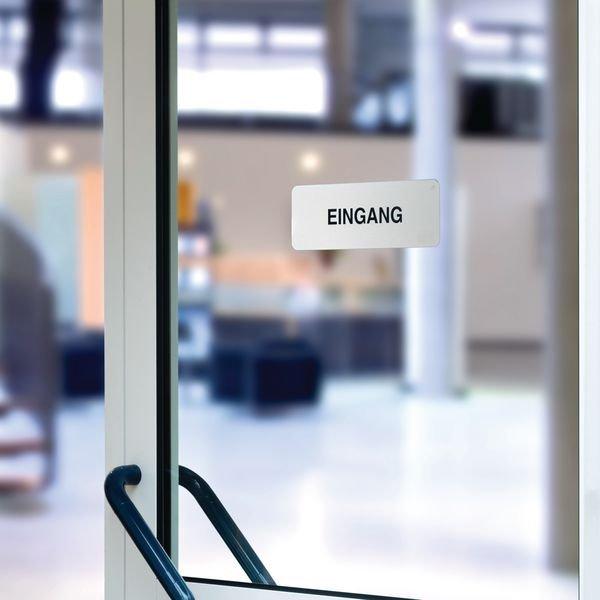 Ausgang - Hinweisschilder, Edelstahl, selbstklebend