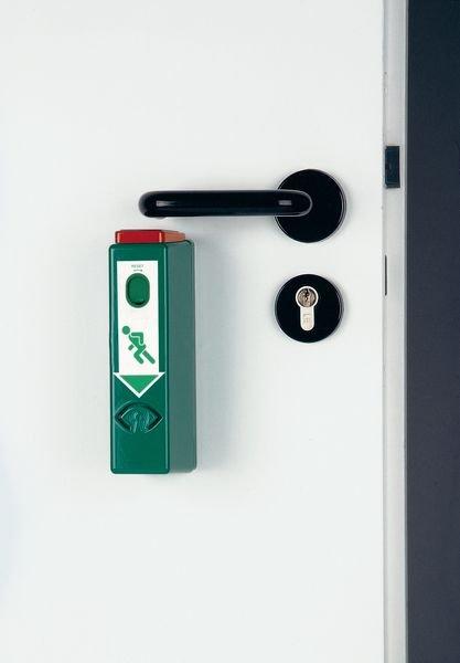 Einhand-Türwächter ohne Voralarm, EN 179, EN 1125 - Brandschutztür- und Fluchttürsicherung