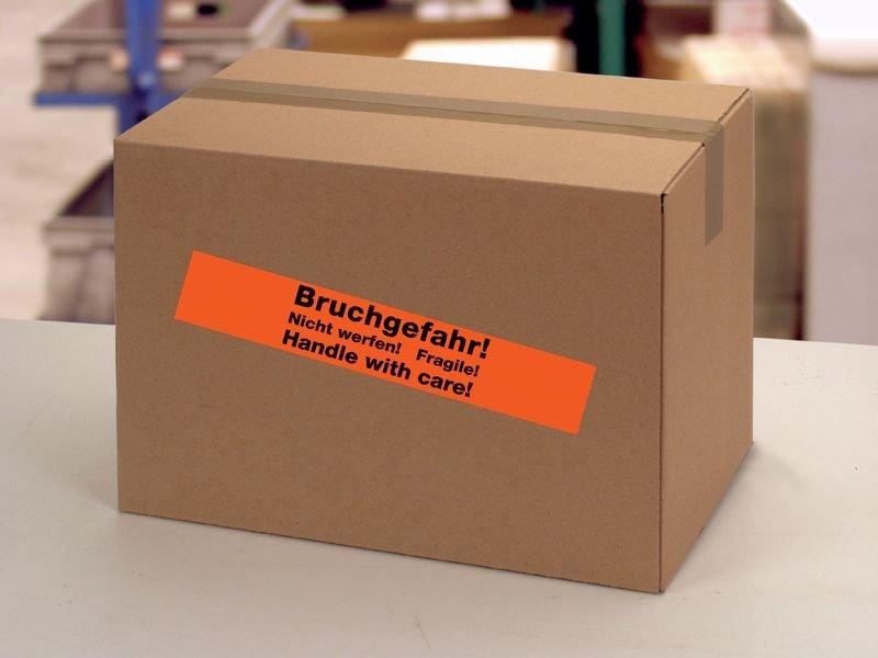 Vorsicht! Hochempfindliche Elektrogeräte – Verpackungsbänder mit Abreißperforation - Packbänder, Gewebebänder, Kordeln