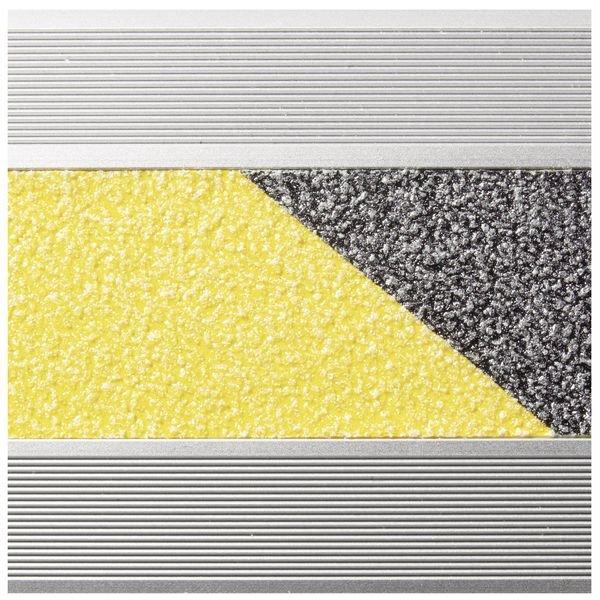 Antirutsch-Treppenkanten-Profile, Aluminium, R13 gemäß DIN 51130/ASR A1.5/1,2 - Treppenprofile und Treppenkantenschutz