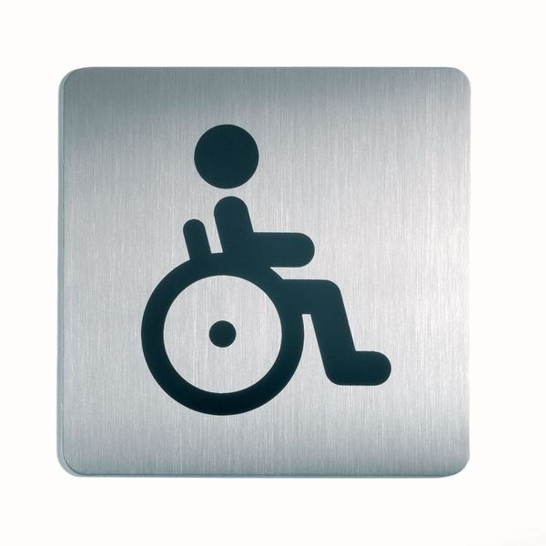 Behinderten WC - DURABLE Design-Piktogrammschilder, quadratisch