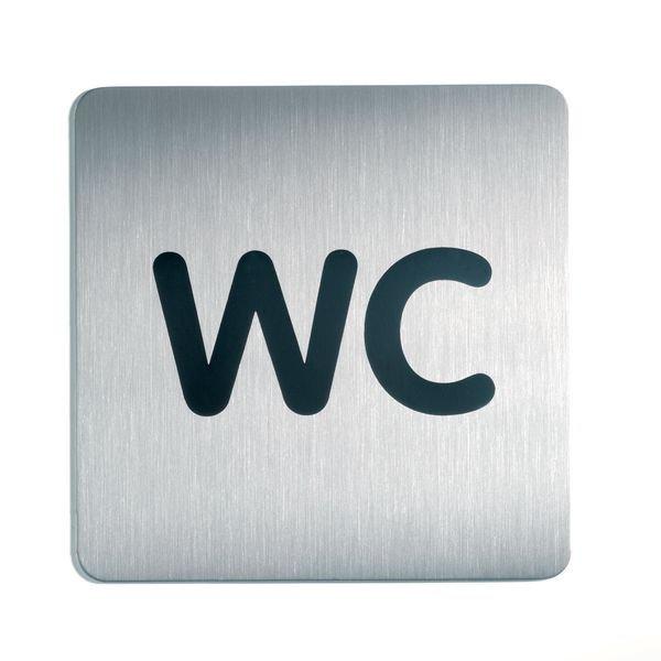 WC - DURABLE Design-Piktogrammschilder, quadratisch
