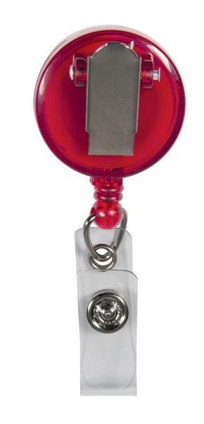 Jojo-Ausweishalter mit Clip, transluzent