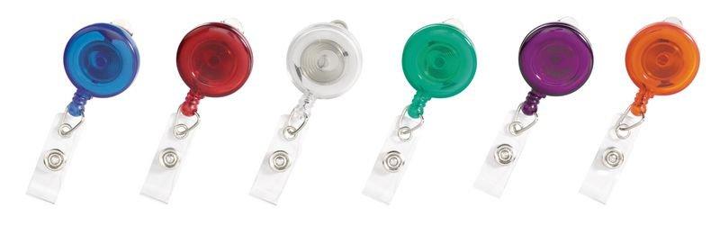 Jojo-Ausweishalter mit Clip, transluzent - Ausweishüllen und Zubehör