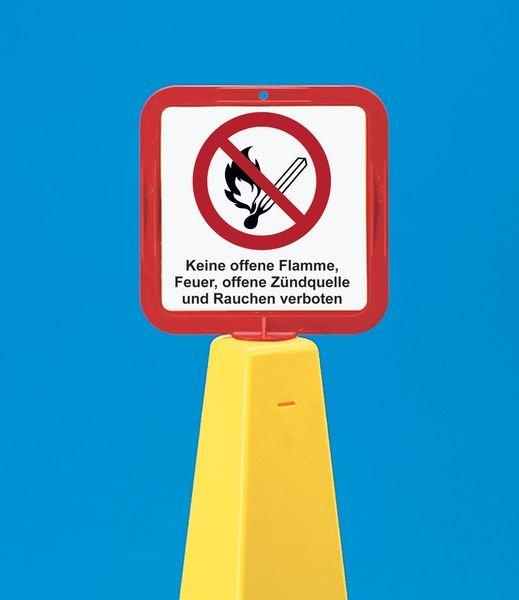 Warnung vor Reparaturarbeiten– Schilderhalter für Absperrkegel-Systeme