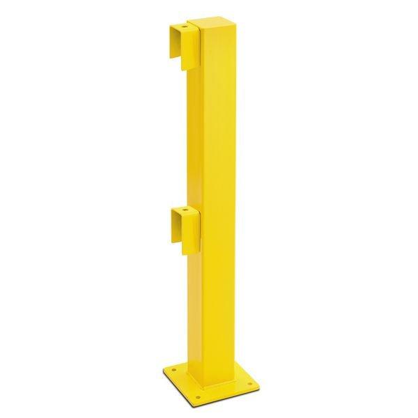 Pfosten für Rammschutz-Geländer, mit Federelement