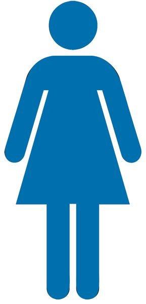 Damen - Piktogramm aus Folie, selbstklebend, ISO 7001