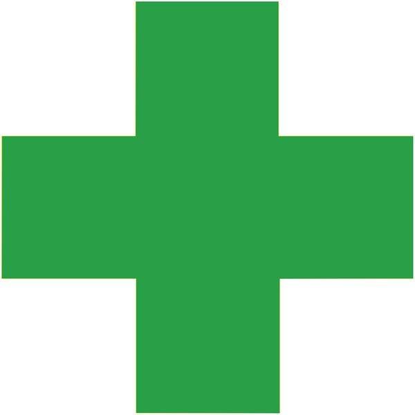 Erste Hilfe - Piktogramm aus Folie, selbstklebend, ISO 7001