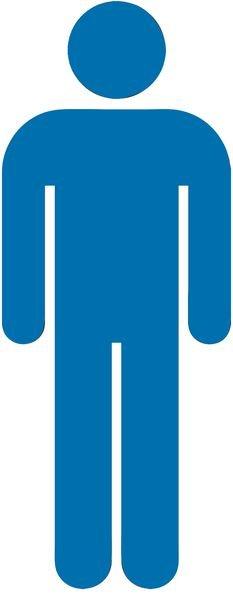 Herren - Piktogramm aus Folie, selbstklebend, ISO 7001