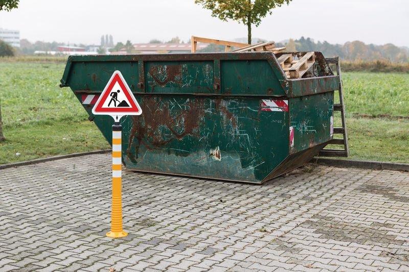 Verbot für KFZ – Verkehrszeichen für ECO Leitpfosten-Schilderhalter - Absperrungen und Sicherheits-Aufsteller