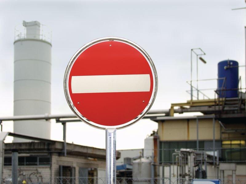 Rohrrahmen aus feuerverzinktem Stahl, Pfeil, für Schweiz - Rohrpfosten und Schilder-Befestigungen