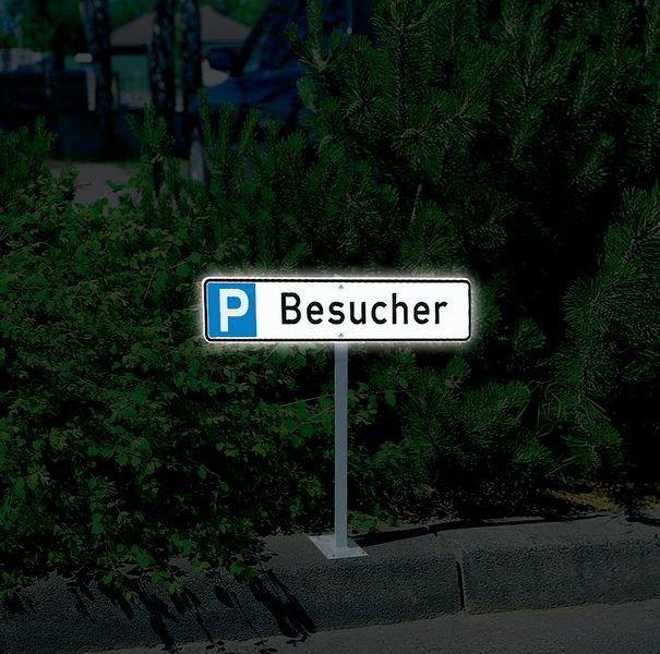 Mitarbeiter - PREMIUM Parkplatz-Reservierungsschilder, massiv, retroreflektierend