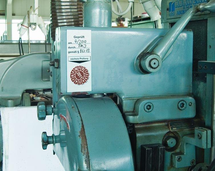 Geprüft am / durch / gemäß - Grundplaketten aus Aluminium